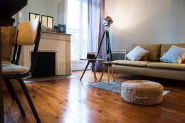 Appartement Le Cheverus: Salon de style de style Scandinave par Cécilia Cretté architecte