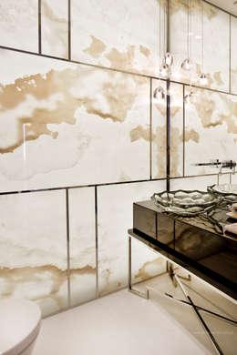 Projekt Apartamentu: styl , w kategorii Łazienka zaprojektowany przez Katarzyna Kraszewska Architektura Wnętrz