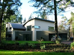 Projekty, nowoczesne Domy zaprojektowane przez ir. G. van der Veen Architect BNA