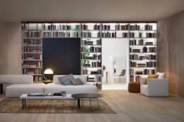 Salas de estilo moderno por Livarea