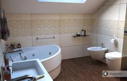 Загородный дом в Приозерске: Ванные комнаты в . Автор – Kitole