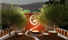 Ночное освещение: Сады в . Автор – Мастерская ландшафта Дмитрия Бородавкина