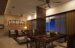 Comedores de estilo asiático por Prism Architects & Interior Designers