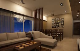 Residential Interiors: asian Living room by Prism Architects & Interior Designers