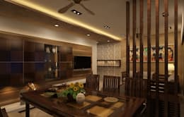 Residential Interiors: asian Dining room by Prism Architects & Interior Designers