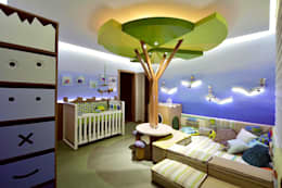 modern Nursery/kid's room by Mundstock Arquitetura