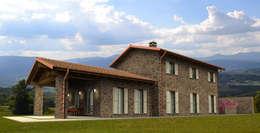 Projekty, rustykalne Domy zaprojektowane przez MBA  MARCELLA BRUGNOLI ARCHITETTO