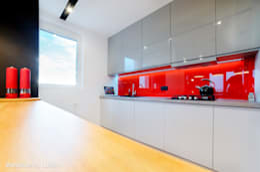 Mieszkanie Lublin: styl , w kategorii Kuchnia zaprojektowany przez Auraprojekt