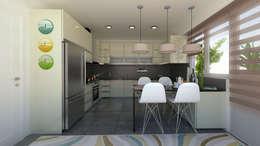 apak mimarlık – Sky Novita Kurtköy: modern tarz Mutfak