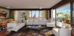 apak mimarlık – Sky Novita Kurtköy: modern tarz Oturma Odası