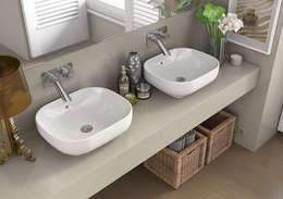modern Bathroom تنفيذ Melissa vilar