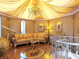 Golden house.: Медиа комнаты в . Автор – Design studio of Stanislav Orekhov. ARCHITECTURE / INTERIOR DESIGN / VISUALIZATION.