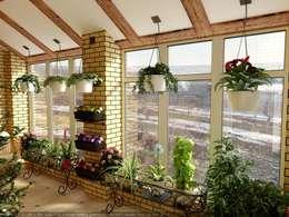 Jardines de invierno de estilo rural por Дизайн студия 'Exmod' Павел Цунев