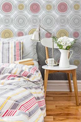 moderne Slaapkamer door Tapeterie