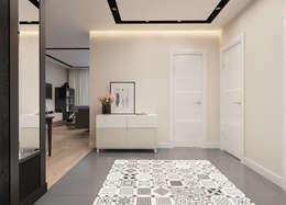 modern Corridor, hallway & stairs by Катя Волкова