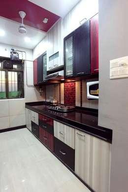 Bharat Bhanushali: modern Kitchen by PSQUAREDESIGNS