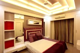 Bharat Bhanushali: modern Bedroom by PSQUAREDESIGNS