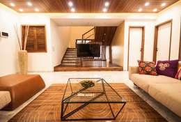 Anmi Residence: modern Living room by andblack design studio