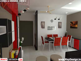 House in Mumbai: modern Living room by Ray Design World