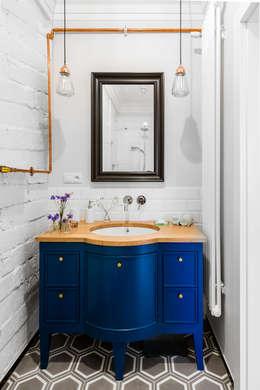 Our photoshoot of apartment design by D Plus Dagmara Zawadzka : styl , w kategorii Łazienka zaprojektowany przez Ayuko Studio