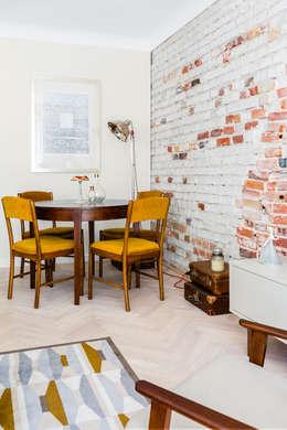 Our photoshoot of apartment design by D Plus Dagmara Zawadzka : styl , w kategorii Jadalnia zaprojektowany przez Ayuko Studio