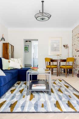 Our photoshoot of apartment design by D Plus Dagmara Zawadzka : styl , w kategorii Salon zaprojektowany przez Ayuko Studio