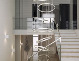 minimalistic Corridor, hallway & stairs by homify