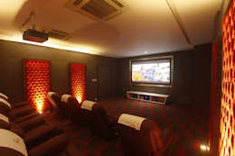 INDRA HIRA: modern Media room by INNERSPACE