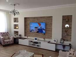 Vizyon mimarlık ve Dekorasyon – B&T.Ş Evi ( Edirne ): modern tarz Duvar & Zemin