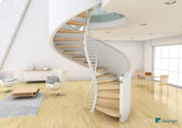 Pasillos y recibidores de estilo  por EeStairs | Stairs and balustrades