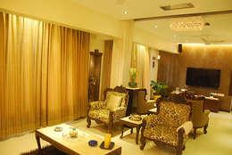 Rest n Beige : modern Living room by Sneha Samtani I Interior Design.