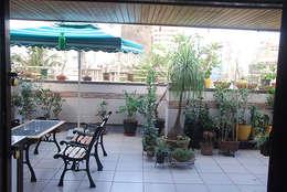 Rest n Beige :  Terrace by Sneha Samtani I Interior Design.