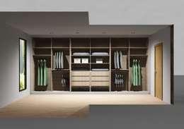 Closets de estilo moderno por Amplitude - Mobiliário lda