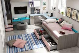 modern Nursery/kid's room by Andar por Casa