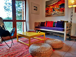 eclectic Living room by Estudio 17.30