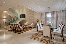 Sala de Jantar: Salas de jantar minimalistas por Livia Martins Arquitetura e Interiores
