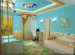 minimalistic Nursery/kid's room by Дизайн студия 'Exmod' Павел Цунев