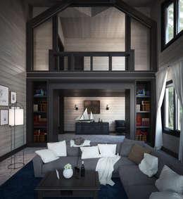 Дизайн-проект гостиной: Гостиная в . Автор – Way-Project Architecture & Design
