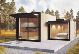 Casas de estilo minimalista por ASVS Arquitectos Associados