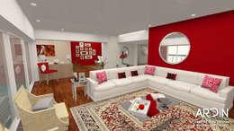 CUMBRES: Salas de estilo moderno por ARDIN INTERIORISMO
