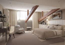 Спальня. Два этажа уюта: Спальни в . Автор – «Студия 3.14»