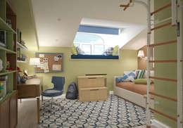 Комната мальчика. Два этажа уюта: Детские комнаты в . Автор – «Студия 3.14»