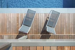 Transformation de la villa E: Piscines  de style  par BURO5 - architectes & associés