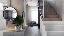 Couloir et hall d'entrée de style  par A2.STUDIO PRACOWNIA ARCHITEKTURY