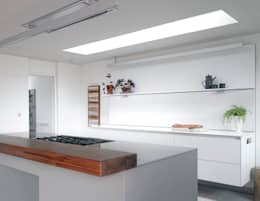 ​The kitchen at the house at Broad Street in Suffolk : modern Kitchen by Nash Baker Architects Ltd