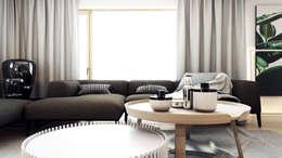 Salon de style de style Moderne par A2.STUDIO PRACOWNIA ARCHITEKTURY