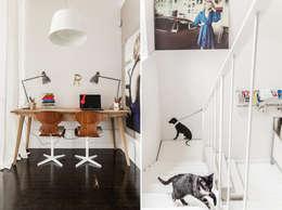 eclectic Media room by Ayuko Studio