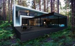 minimalistic Houses by  Aleksandr Zhydkov Architect
