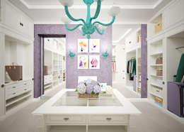 """Гардеробная """"Lilac"""": Гардеробные в . Автор – Студия дизайна Дарьи Одарюк"""