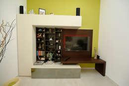 Salas de entretenimiento de estilo moderno por DF Design
